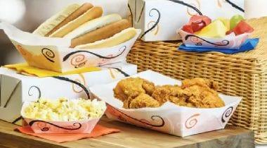 food tray display