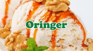 oringer logo on ice cream