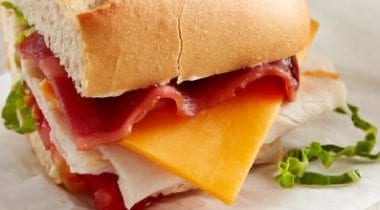 pretzel club sandwich