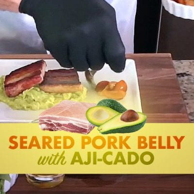seared pork belly banner