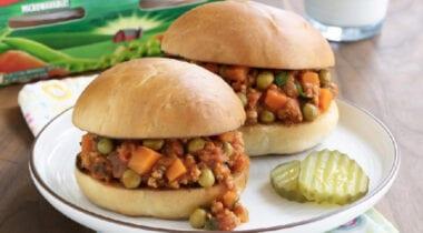Diced Carrots in Sandwich