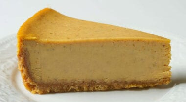 Pumpkin Cheesecake Slice