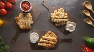 breadsticks with dipping sauces