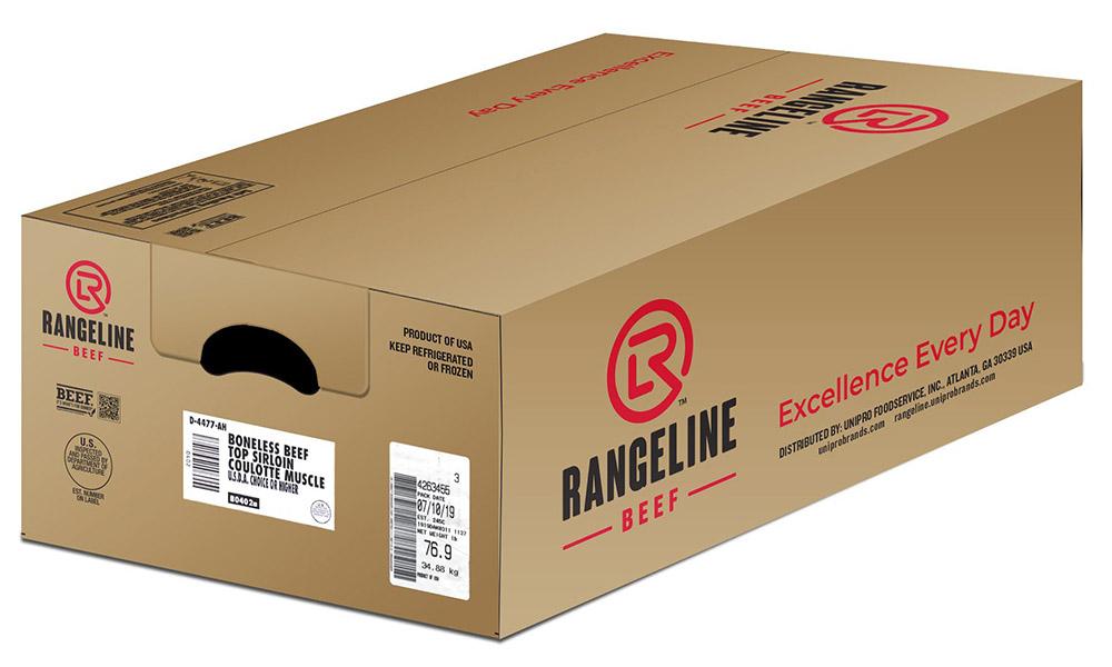 Rangeline branded cardboard box