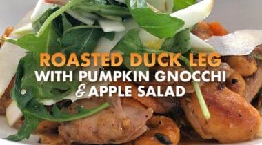 roasted duck leg recipe graphic