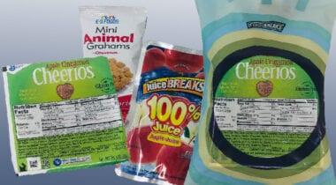 apple cinnamon cheerios, animal crackers and juice kit