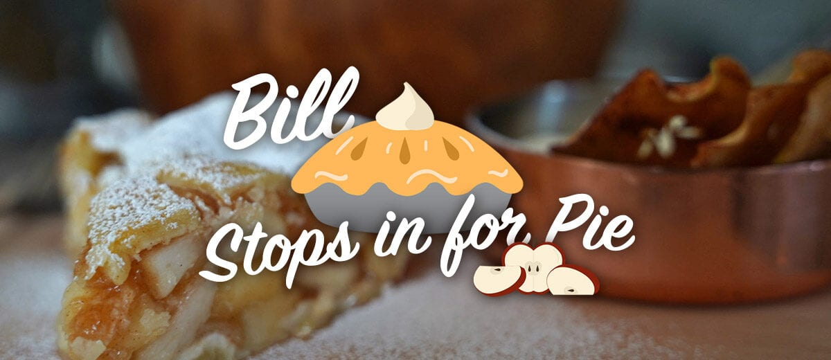 bill stops in for pie graphic
