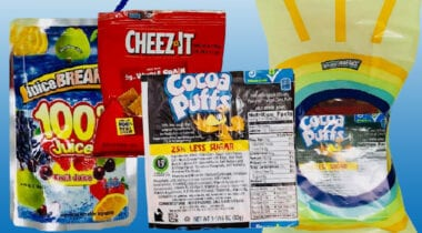 es food breakfast and snack kit with juice