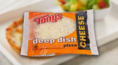 tonys individual deep dish cheese pizza