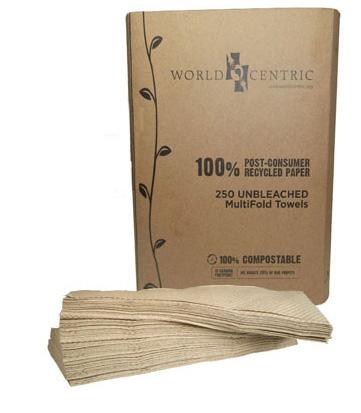 world centric kraft dinner napkin, bundle of napkins