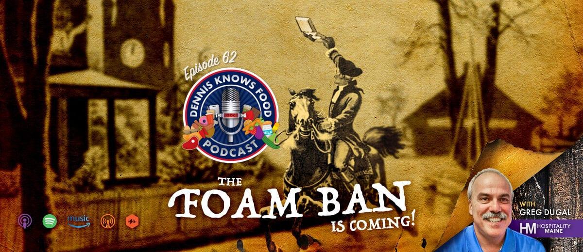 podcast foam ban graphic