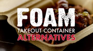 foam takeout container alternatives graphic
