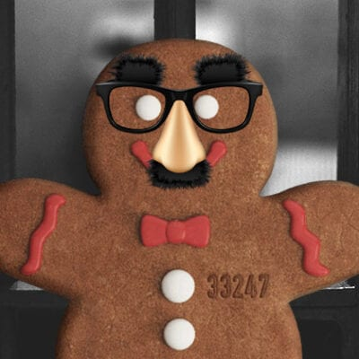 gingerbread man in disguise
