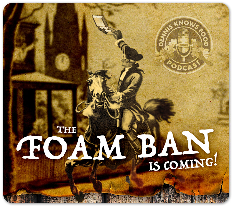 the foam ban podcast episode graphic
