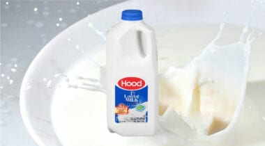 half gallon of hood milk
