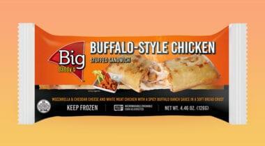 buffalo chicken stuffed sandwich individually wrapped