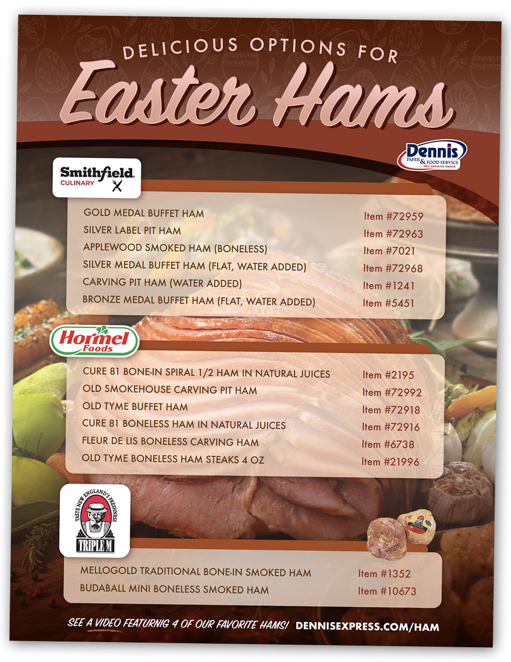 Easter Ham Flyer Graphic