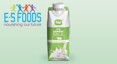 1% low fat shelf-stable white milk