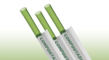 green straws with wrappers