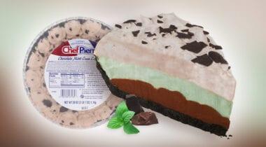 chocolate mint cream pie banner graphic