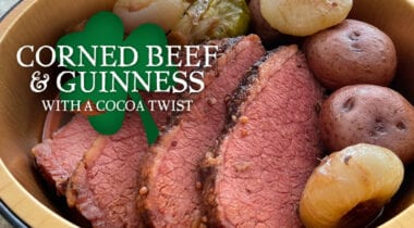 corned beef and guinness recipe graphic