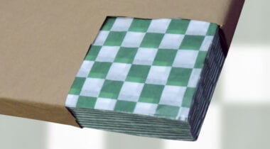 green check basket liners