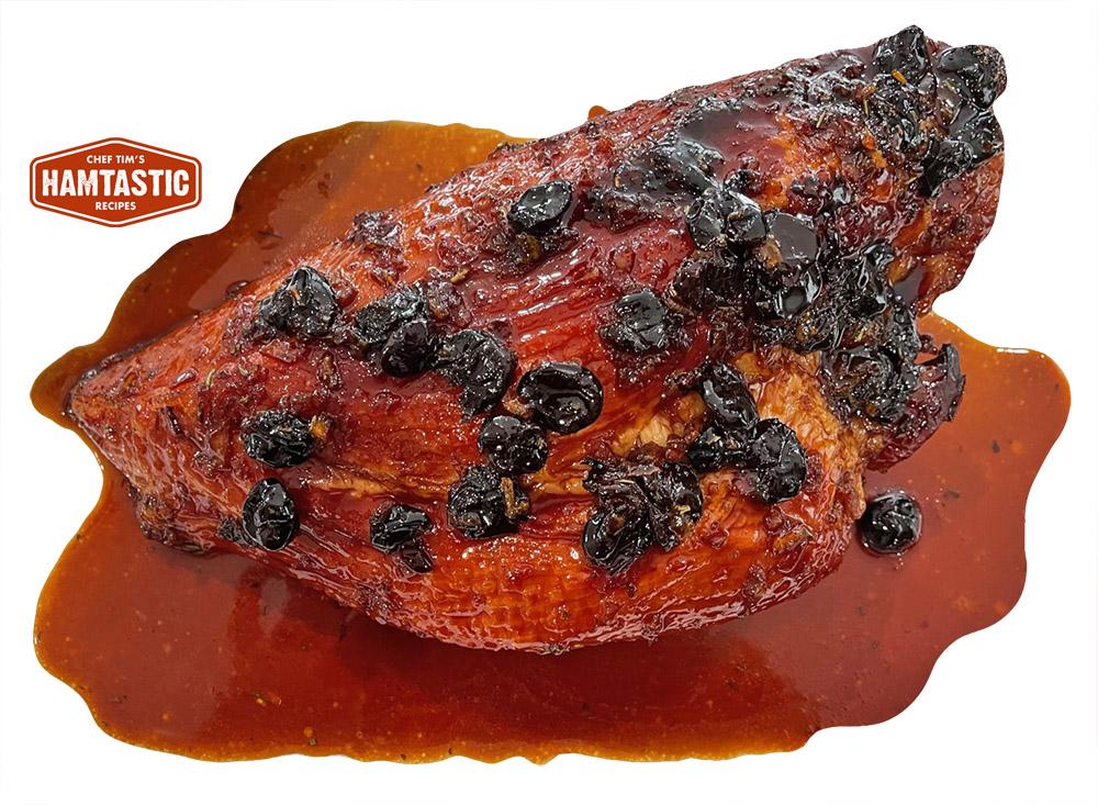 glazed ham with dried cherries