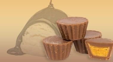 Alfred tracks ice cream vanilla chocolate fudge peanut butter cups