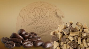 premium coffee ice cream with heathbar pieces