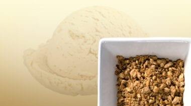 vanilla ice cream with grapenuts