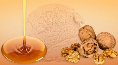 premium maple ice cream with walnuts