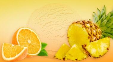 orange pineapple flavored ice cream