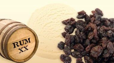 rum ice cream with raisins