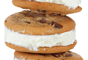 stack of cookie ice cream sandwiches