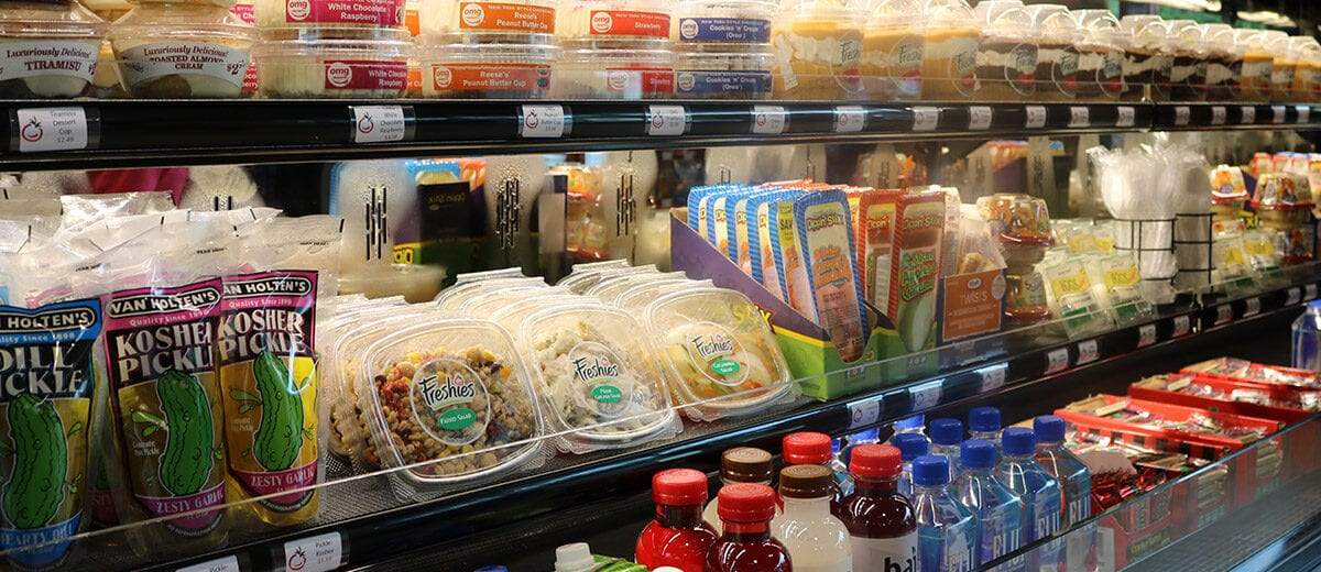 foods in convenience store cooler