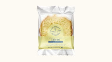 simple joys bakery iced lemon cake slice in package