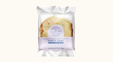 simple joys bakery iced party cake slice in package