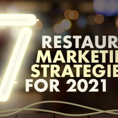 Seven Restaurant Marketing Ideas graphic
