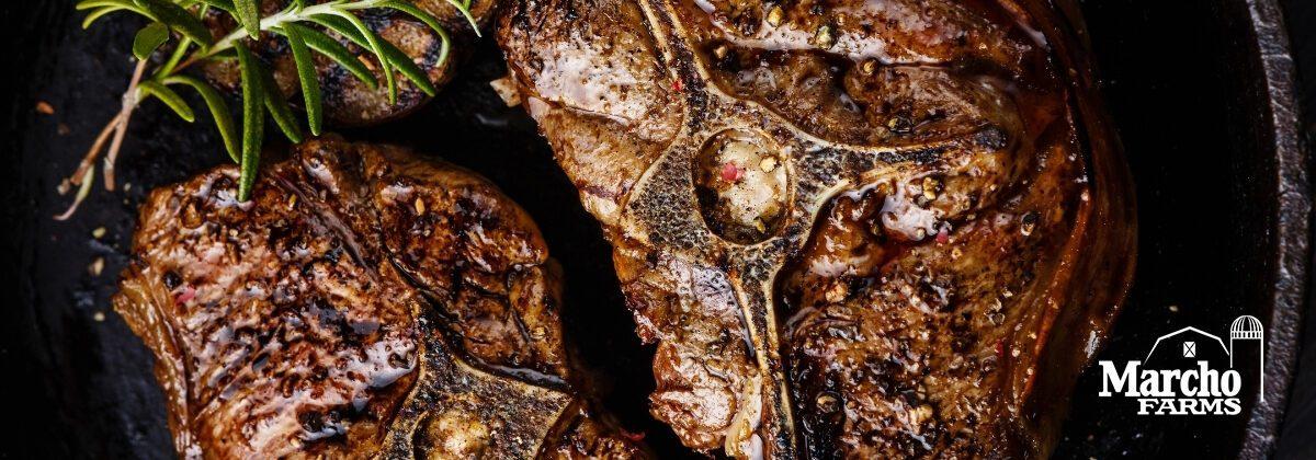 roasted bone in lamb loin