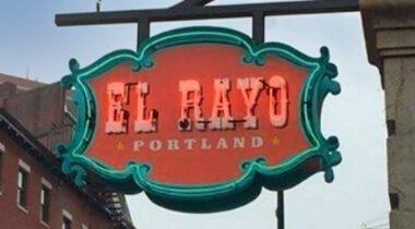 el rayo portland, maine sign hanging